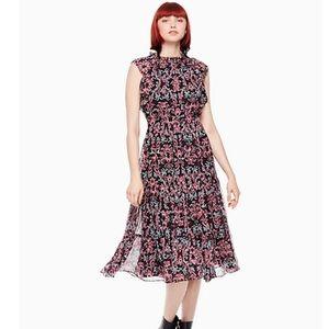 Kate Spade Chiffon Midi Dress